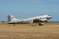Avião de transporte anterior de RAAF - DC-3 imagem de stock