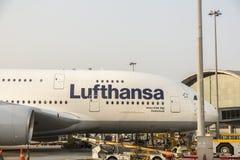 Avião do gigante de Airbus 380 Fotografia de Stock Royalty Free