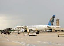 Avião do jato do registro da donzela de ferro fotografia de stock