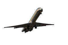 Avião do passageiro com trajeto de grampeamento Foto de Stock Royalty Free