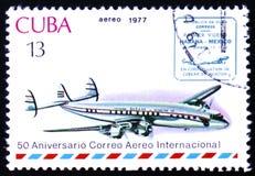 Avião do vintage e prestígio de Havana-México Imagens de Stock Royalty Free