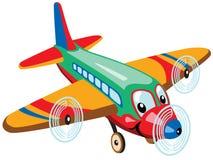 Avião dos desenhos animados Imagens de Stock Royalty Free
