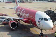 Avião dos passageiros de Air Asia Imagem de Stock Royalty Free