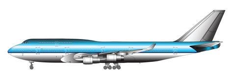 Avião enorme do passageiro ilustração stock