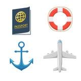 Avião escora lifebuoy passport Foto de Stock