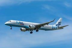 Avião Flybe G-FBJH Embraer ERJ-175 Imagens de Stock
