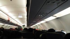 Avião interno com vista paralela imagem de stock royalty free