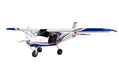 Avião isolado no branco foto de stock