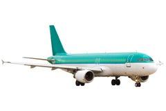 Avião isolado no branco Fotos de Stock Royalty Free