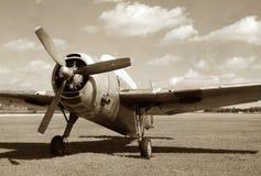 Avião militar do vintage imagens de stock royalty free