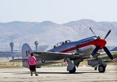 Avião militar do vintage Fotografia de Stock