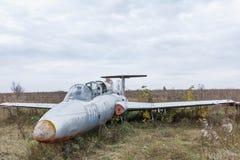 Avião militar quebrado velho do russo Imagem de Stock Royalty Free