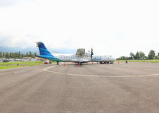 Avião no aeroporto de Ende Foto de Stock Royalty Free