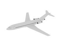 Avião no ar isolado no branco Fotografia de Stock