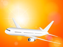 Avião no céu ilustração stock