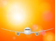 Avião no céu ilustração royalty free