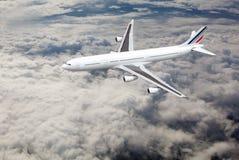 Avião no céu Imagem de Stock