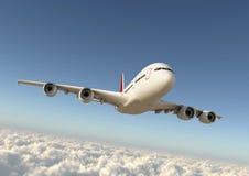 Avião no céu Fotos de Stock Royalty Free
