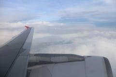 Avião no céu Imagens de Stock Royalty Free