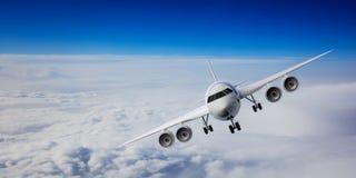 Avião no fundo do céu azul ilustração 3D ilustração do vetor