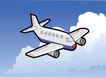 Avião no vôo Ilustração Royalty Free