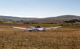 Avião nos prados franceses Imagem de Stock
