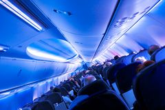Avião para dentro Imagem de Stock