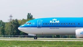 Avião pela opinião do close-up de KLM Foto de Stock Royalty Free