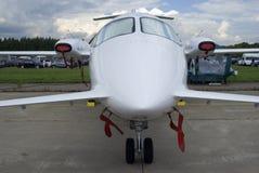 Avião privado da classe executiva no salão de beleza aeroespacial internacional MAKS-2017 de MAKS fotos de stock royalty free