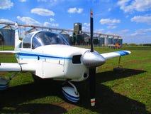 Avião privado, Kamenets Podolskiy, Ucrânia imagens de stock