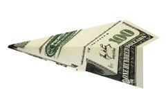 Avião rendido dos dólares do dinheiro ilustração do vetor