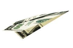 Avião rendido dos dólares do dinheiro ilustração royalty free