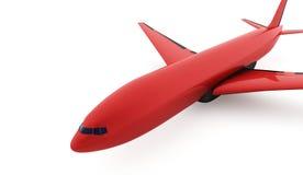 Avião rendido isolado no branco ilustração royalty free