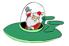 Avião, Santa ilustração do vetor