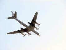 Avião Tu-95 imagem de stock