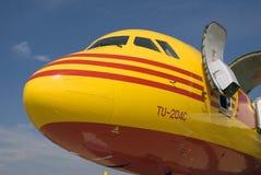 Avião TU-204C no salão de beleza aeroespacial internacional de MAKS Fotografia de Stock Royalty Free