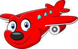 Avião vermelho dos desenhos animados ilustração do vetor