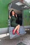 Avião WW2 e modelo 'sexy' Imagem de Stock
