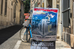 AVIÑÓN, PROVENCE, FRANCIA - 5 DE JULIO DE 2017: ` Aviñón del festival d Imágenes de archivo libres de regalías