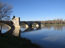 Aviñón, santo Benezet - puente, Francia de Pont Fotografía de archivo libre de regalías
