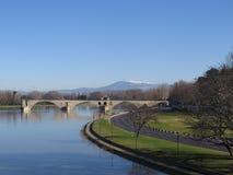 Aviñón, santo Benezet - puente, Francia de Pont Imagen de archivo libre de regalías