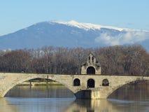 Aviñón, santo Benezet - puente, Francia de Pont Imagenes de archivo