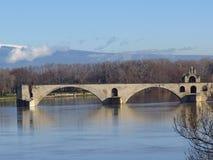 Aviñón, santo Benezet - puente, Francia de Pont Fotos de archivo