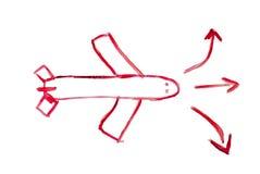 Avión Imagen de archivo libre de regalías