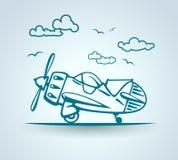 Avión abstracto, stylization, vector Foto de archivo