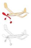 Avión accionado de la goma Foto de archivo libre de regalías