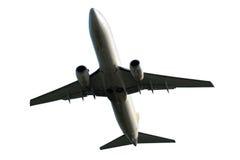 Avión aislado en un fondo blanco foto de archivo