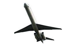 Avión aislado en un fondo blanco fotografía de archivo