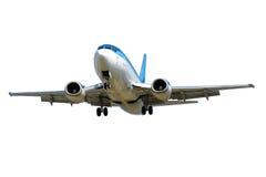 Avión aislado en un fondo blanco imagen de archivo