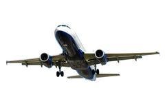 Avión aislado en un fondo blanco foto de archivo libre de regalías